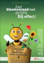 Affiche: Bloemenzaad voor bijen